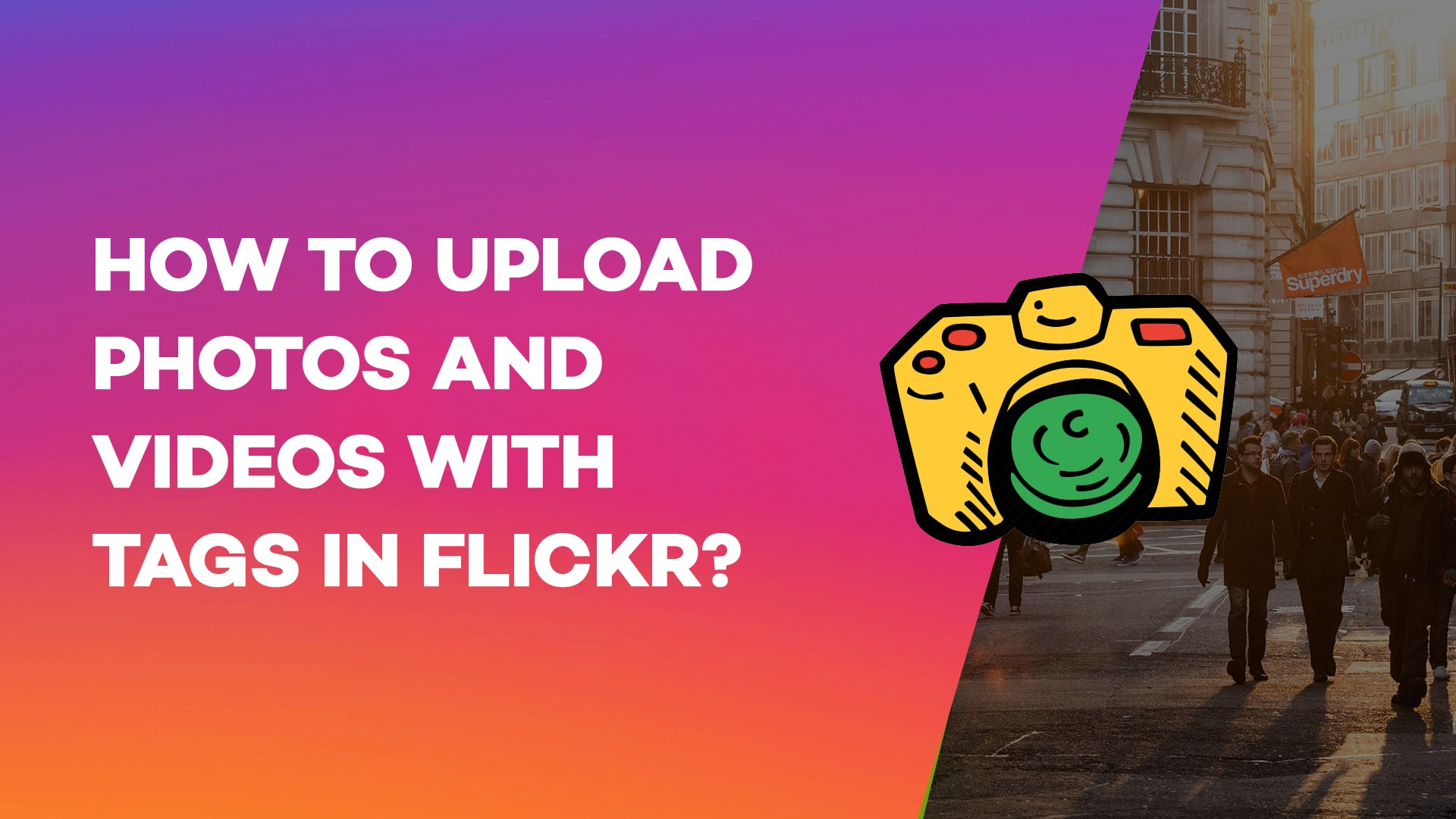 How to upload photos and videos with Tags in Flickr?